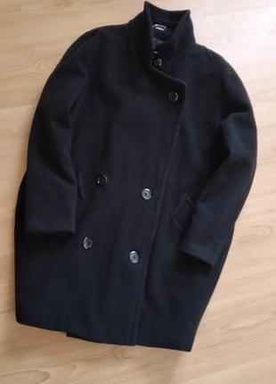 Шерстяное пальто оверсайз бойфренд кокон
