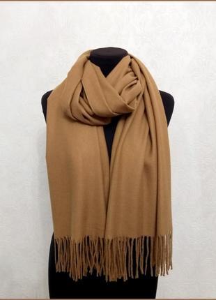 Кашемировый шарф коричневый