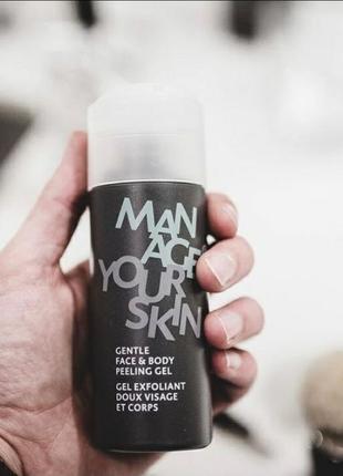 Гель-пилинг для мужчин gentle face & body peeling gel dr spiller