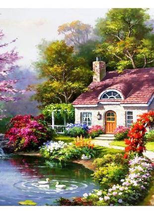 Пазл anatolian весенний коттедж в самом цвету 1500 элементов пазлы
