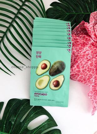 Тканевая маска с авокадо holika holika pure essence mask sheet avocado