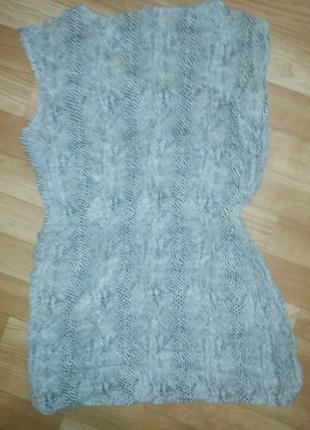 Питоновое платье-туничка зара