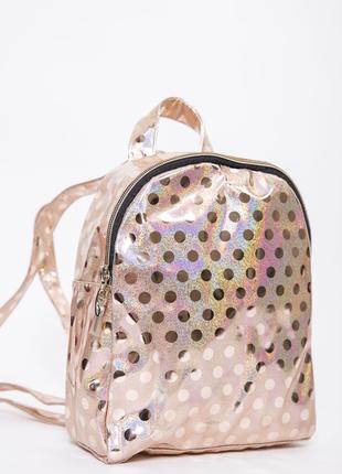 Маленький рюкзак золотистого цвета 154r003-26-1