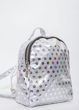 Женский серебристый рюкзак 154r003-26-1