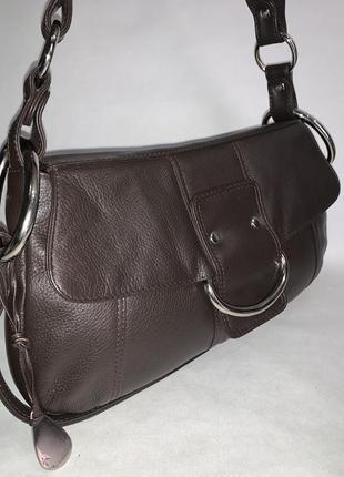 Англия! кожаная фирменная сумка на/ в руку, на плечо tula.