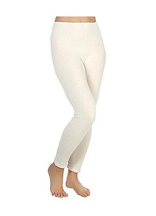 Термо штаны лосины подштанники ангора+ шерсть молочного цвета