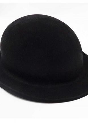 Шляпа детская котелок для джентльмена чарли чаплин флок черная+подарок