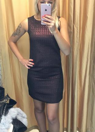 Бордовое чёрное платье incity миди мини короткое клубное прямое коктейльное
