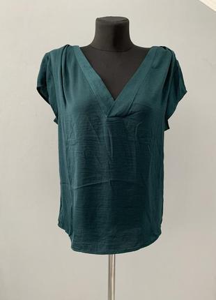 Блузка, футболка рубашка изумруд зелений