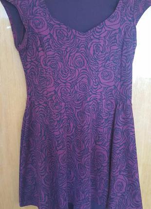Стильное короткое бордовое платье от atmosphere