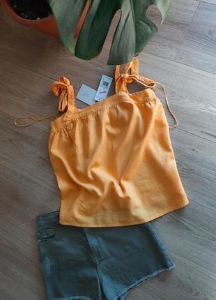 Футболка льон майка блуза f&f s m