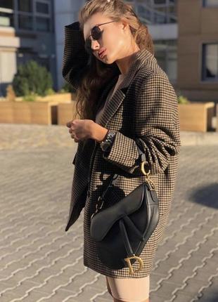 Пиджак в утиную лапку  блейзер zara 53% шерсть
