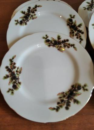 Тарелки с еловыми веточками япония 6 штук