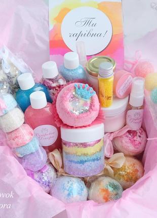 """Подарунковий набір бокс """"queen of spa"""" подарунок дівчині, на день народження, на 8 березня"""