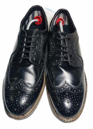 Кожаные туфли броги оксфорды 42