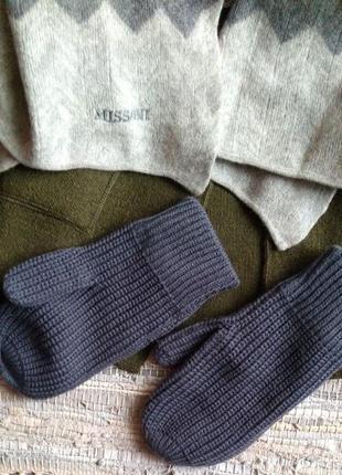 Вязаные рукавицы
