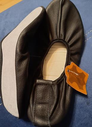 Чешки балетки кожаные