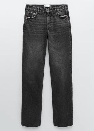 Прямые джинсы zara xs s 36 34
