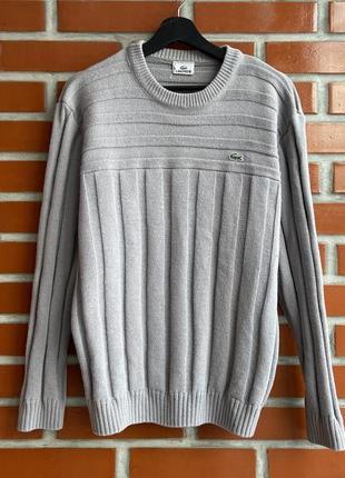Lacoste оригинал мужской шерстяной свитер размер m l лакост б у
