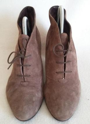Замшевые ботинки, ботильоны фирмы 5 th avenue freeflex p. 39-40 стелька 26 см