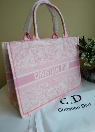 Женская сумка шоппер из текстиля розовая