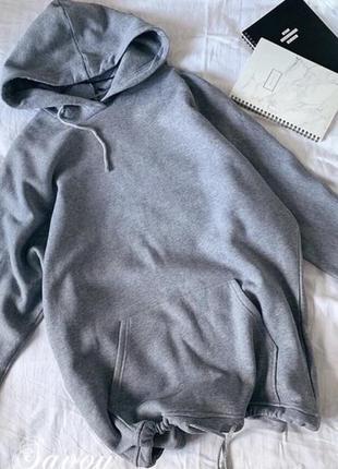 Платье тёплое на флисе туника удлиненный свитер кофта худи новинка8 фото