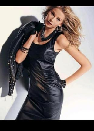 Сарафан-платье экокожа