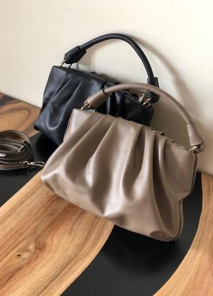 Сумка з натуральної шкіри , кожаная сумка италия