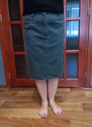 Черная джинсовая юбка