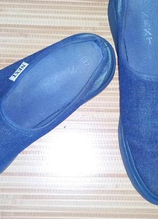 Шлепанцы (шлепки, сабо) из джинсовой ткани next.  размер 37.