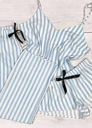 Пижама пижамка хлопковая піжама пижамный комплект  набор в полоску
