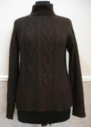 Вязанная кофта с длинным рукавом свитер с воротником большого размера 16 (xxl)