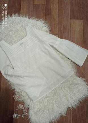 Блузочка с вышивкой решелье marks& spencer