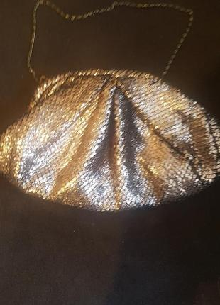 Модный клач из мягкой ткани с напылением