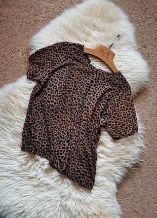 Винтажная свободная футболка 3d принт леопард