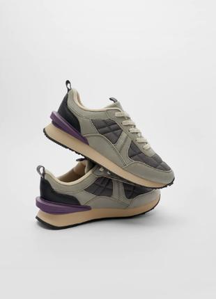 Кожаные кроссовки zara1 фото