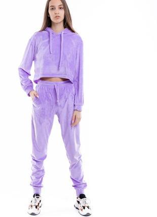"""Костюм женский """"lilac"""" худи + штаны фиолетовые"""