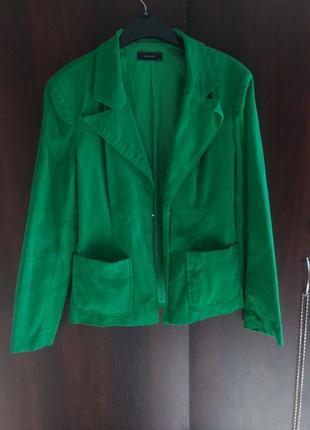 Изумрудный, вельветовый  пиджак