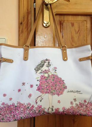 Летняя белая сумка от oriflame пляжная текстильная