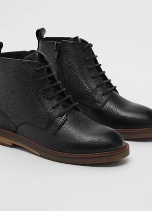 Кожаные ботинки zara, размеры 34,37-40