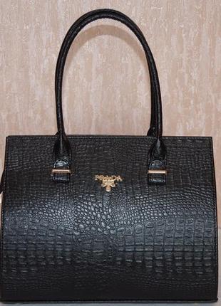 Деловая черная женская сумка