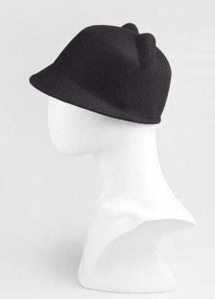 Новая шерстяная шляпа с ушками, жокейка, кеппи 100% шерсть2 фото