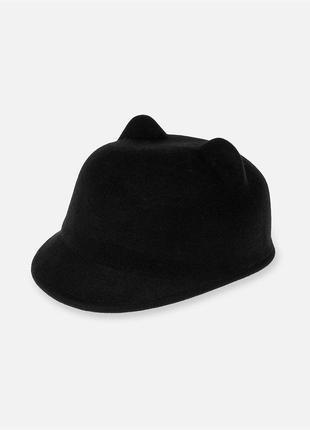 Новая шерстяная шляпа с ушками, жокейка, кеппи 100% шерсть