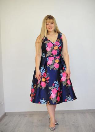 Нарядное платье батал chi chi 16 размер