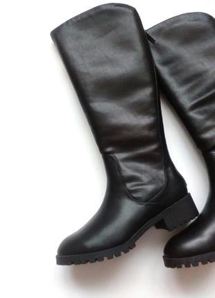 Ботфорти,зимові чоботи,сапоги,ботфорты,bershka,черевики,утеплені, зимние, утепленные