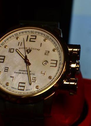 Шара ! швейцарские часы механические с автоподзаводом swiss legend. diamonds8 фото