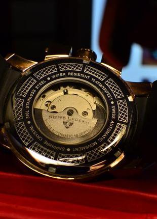 Шара ! швейцарские часы механические с автоподзаводом swiss legend. diamonds10 фото