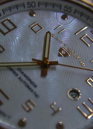 Шара ! швейцарские часы механические с автоподзаводом swiss legend. diamonds6 фото