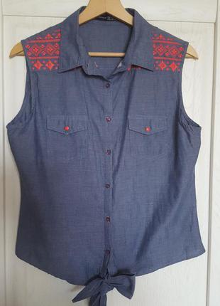 Рубашка с вышивкой atmosphere 12 р.