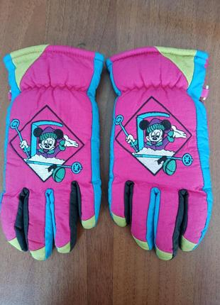 Перчатки для девочек зима